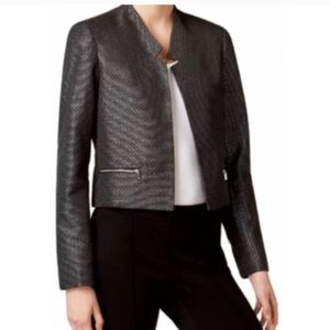 Calvin Klein Metallic Cropped Jacket Sz 6P